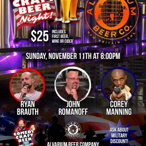 Alvarium Comedy Craft Beer Night