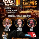 Hanging Hills Comedy Craft Beer Night