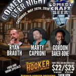 Hooker Comedy Craft Beer Night