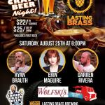 Lasting Brass Comedy Craft Beer Night