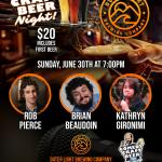 Outer Light Comedy Craft Beer Night