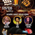 Stubborn Beauty Comedy Craft Beer Night